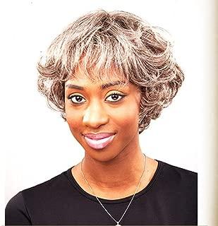 JUNEE FASHION Human Hair Wig - HH DANDY (#1B/33 - Off Black/Auburn)