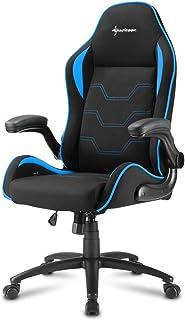 Sharkoon Elbrus 1 Gaming Chair/ Seat, Durable upto 120 Kgs - Black/ Blue