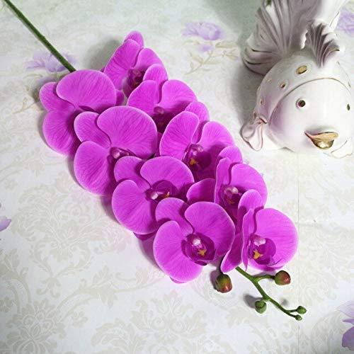 Unbekannt Llzpl 1 Stück 90cm echte Orchidee Kunstblume Kunstblume Kunstblume für Hochzeitsdekoration braun