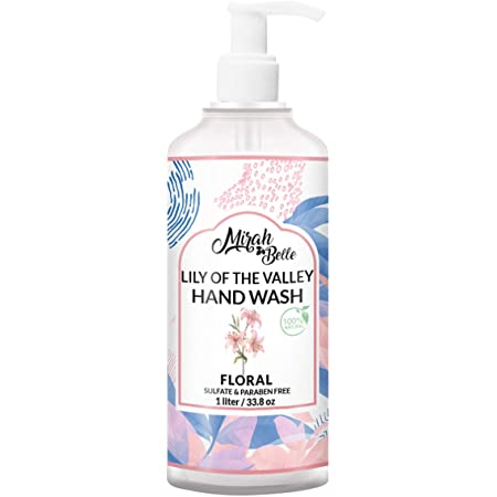 Mirah Belle - Lily Hand Wash Can (1 LTR) - Best for Men, Women - Sulfate and Paraben Free - 1000 ML