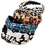 Cerchietti per capelli con stampa vintage, elastici e intrecciati, accessori per capelli