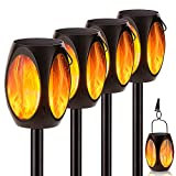 """NENRENT Outdoor Solar Torch Lights, 40"""" Waterproof 96 LED solar torch light with flickering flame Landscape Decoration Lighting Dusk to Dawn Auto On/Off Garden Pathway Lights for Patio Driveway 4 Pack"""