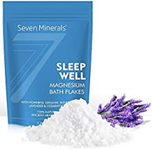 Sleep Well Magnesium Chloride Flakes 3lb – Absorbs Better than Epsom Salt - Unique & Natural Full Bath Soak Formula for Insomnia Relief & Healthy Sleep - With USDA Organic Cedarwood & Lavender