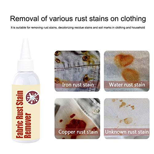 Voberry Fabric Rust Stain Remover Safe to Use Advanced Rust Decomposition Technology Cleaner Rust Remover for Clothes Soap Laundry Liquid (Multicolor)