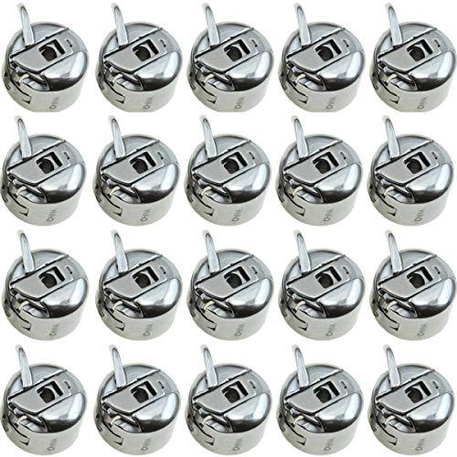 Boîte à Canette Couture, 20 Pièces Boîtier à Canette Métal Support De Canette Accessoires de Couture pour Machine à Coudre Domestique Pour Machines Toyota, Brother Janome, Elna, Bernina, Singer