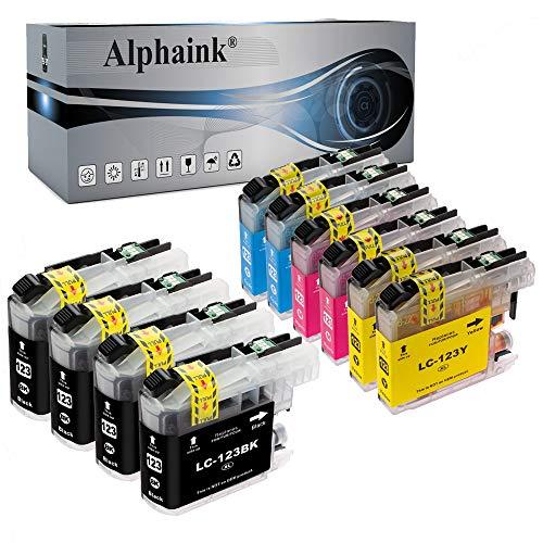 Alphaink 10 Cartucce compatibili conBrother LC-123 per stampanti Brother LC-123 DCP-J132W J152W J4110 ( 4 Nero, 2 Ciano, 2 Magenta, 2 Giallo)