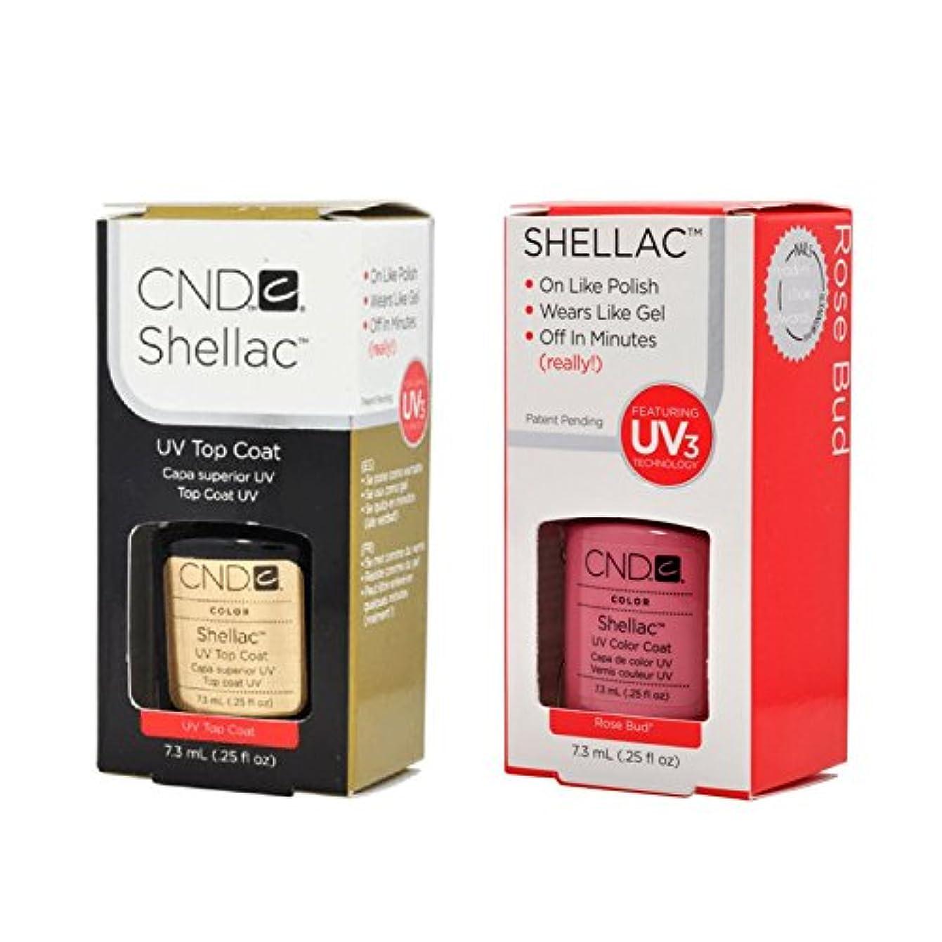 上にチャールズキージング学習CND Shellac UVトップコート 7.3m l  &  UV カラーコー< Rose Bud>7.3ml [海外直送品]