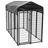 Lucky Dog 60548 8ft x 4ft x 6ft Uptown Welded Wire Outdoor Dog Kennel...