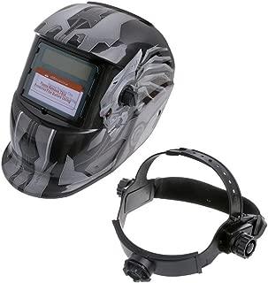 KEKE Casco De Soldadura Careta Soldar con Gran Campo De Visión, Oscurecimiento Automático con Sensores, para El Soldador De Arco De Mig TIG Escudo De La Máscara
