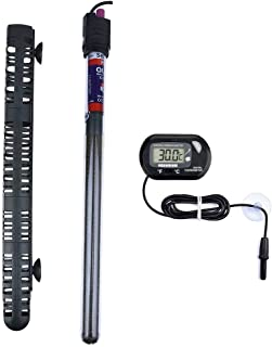 Aquarium Heater Submersible Fish Tank Heater with Protective Sleeve & Suction Cup,Explosion-Proof and Auto Thermostat
