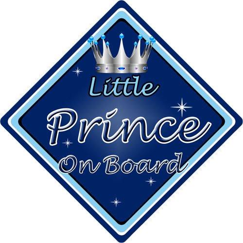 Letrero no personalizado para niño/bebé a bordo, para coche, con leyenda en inglés, D. azul