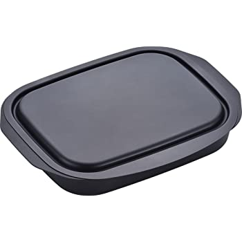 和平フレイズ グリルパン 焼く 蒸す 温め直し ランチーニ 角型 17×22cm 蓋付 鉄 RA-9505