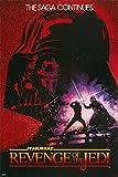 POSTER STOP ONLINE Star Wars Revenge of The Jedi - Movie Poster/Print (Original Title - Later Renamed to Return of The Jedi) (Size 24' x 36') (Poster & Poster Strip Set)