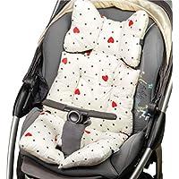 Lenkies Reductor de cochecito universal, reductor de cubierta de asiento de coche silla de bebé cuna para bebé, colchón transpirable acolchado algodón antibacteriano resistente al sudor