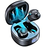 LELONG Bluetooth 5.1 Wireless Earbuds with 580mAh Wireless Charging Case IPX8 Waterproof TWS Qualcomm AptX Excellent Stereo in Ear Headphones Premium Sound with Deep Bass for Sport- Black