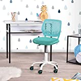 Geniqua Office Chair Swivel Computer Task Study Adjustable Kids Room Student Turquoise