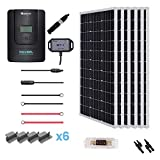 Renogy 600W 12V Monocrystalline Solar Premium Kit with 60A MPPT Charger Controller /Bluetooth Module /Adaptor Kit /Tray Cables...