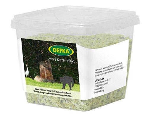 DEFKA 0,5 kg Zuverlässiger biologischer Naturstoff zur nachhaltigen Vermeidung von Katzenhinterlassenschaften - Katzenabwehr - Katzenschreck