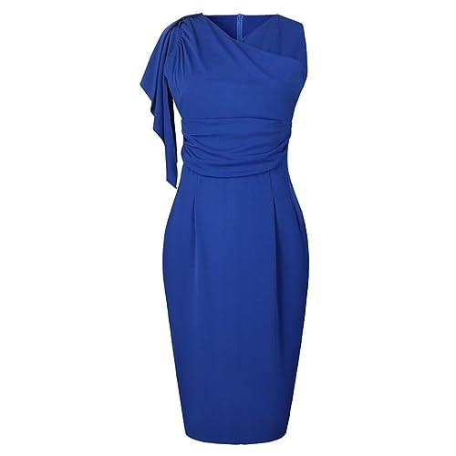Vestidos de Fiesta Azul para Bodas Mujer: Amazon.es