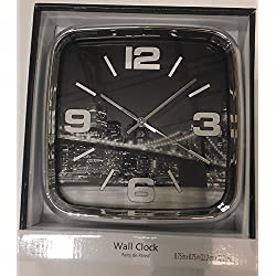Mainstays City Scapes Chrome City Wall Clock