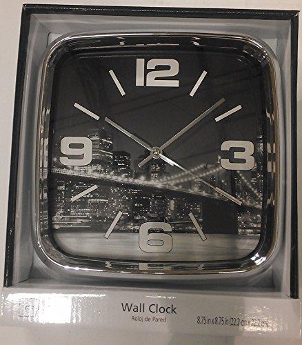 Mainstays City Scapes Chrome City Wall Clock