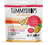 USDA Organic Tropical Ginger Tummydrops Variety Pack (Resealable Bag with 33 Individually Wrapped Drops, Mix of Pineapple & Yumberry)