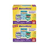Glad Matchware Value Pack Food Storage Containers, Pack-20 Count, Clear