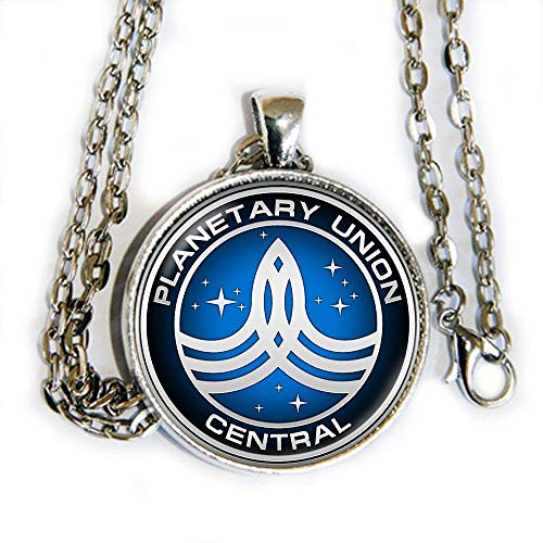 The Orville inspired pendant necklace - Planetary Union Central logo - HM