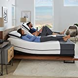 Ananda 12' Pearl and Cool Gel Infused Memory Foam Mattress with Premium Adjustable Bed Frame Combo, Head Tilt, Massage, USB, Zero Gravity,Anti-Snore … (Split King)