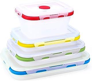 AMAYGA Juegos de Recipientes para Alimentos,Apta para Lavavajillas y Microondas,Recipientes para Cereales Sin BPA,Juego de Almacenamiento de Comida de 17 Unidades