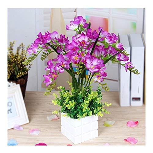 Kunstpflanze Künstliche Orchidee Im Topf Aus Keramik (Color : Light purplr)
