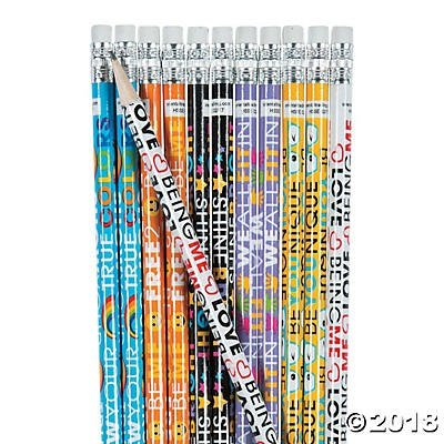 48 Be You Inspirational Pencils~Classroom/Teacher Supplies~Student Incentives~Show Your True Cool~Shine Bright