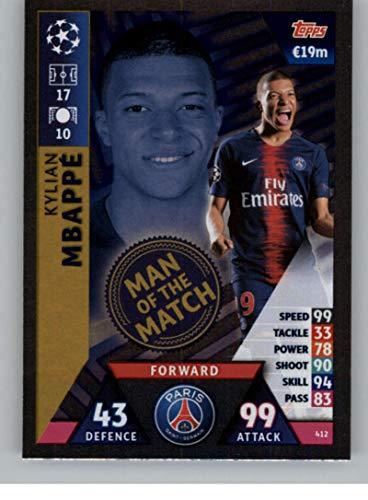 2018-19 Topps UEFA Champions League Match Attax #412 Kylian Mbappe Man of the Match Official Futbol Soccer Card