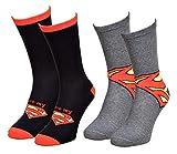 Disney Socks And Underwear – Herren-Socken Marvel, Avengers, Dc Comics aus Baumwolle – verschiedene Modelle mit Fotos je nach Verfügbarkeit – mehrfarbig Gr. One size, 2 Paar Superman.