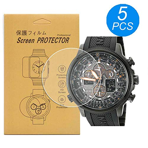 [5-Pcs] for Citizen JY8035-04E Watch Screen Protector, Full Coverage Screen Protector for Citizen JY8035-04E Watch HD Clear Anti-Bubble and Anti-Scratch
