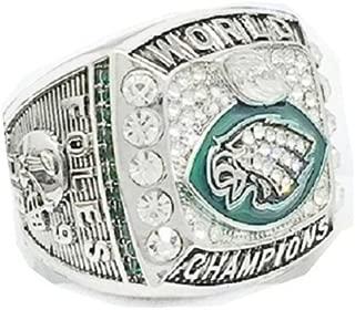 Zoga Philadelphia Eagles Ring, Football Super Bowl LII World Foles and Wentz Championship Replica Ring (9-12)
