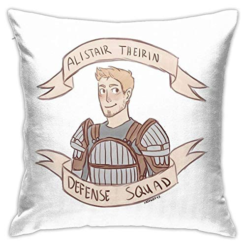 Dragon Age Origins Alistair Theirin Defense Squad - Funda de cojín decorativa para dormitorio, sofá, 45,7 x 45,7 cm