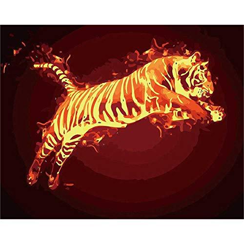 YSNMM Vlam Paard Dier Vuur Scenery Diy Digitale Schilderen Door Getallen Moderne Muur Kunst Canvas Schilderen Unieke Gift Home Decor