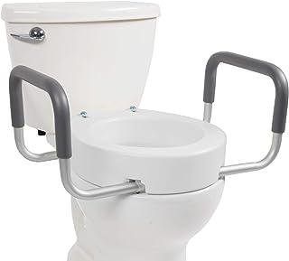 Vive Toilet Seat Riser with Handles   Raised Toilet Seat
