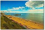 LFNSTXT Rompecabezas de playa de Bournemouth de Inglaterra para adultos y niños, 1000 piezas, juego de rompecabezas de madera para regalos, decoración del hogar, recuerdos especiales de viaje