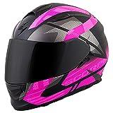 ScorpionEXO EXO-T510 Fury Unisex-Adult Street Motorcycle Helmet - Black/Pink/Large