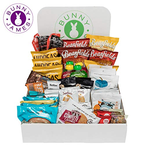 Bunny James Vegan Office Display Snack Box (90 Snacks)