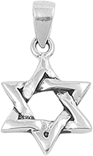 Star of David Pendant .925 Sterling Silver Charm - Silver Jewelry Accessories Key Chain Bracelet Necklace Pendants