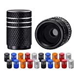 Osgow 20 PCS Tire Valve Caps Universal Stem Covers for Cars, Trucks SUV Motorcycles Bicycle Bike Tire Valve Stem Caps, Black Silver Blue Red Gold Tire Air Caps, Aluminum Alloy | O Rubber Seal