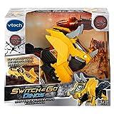 VTech - Brutus, der Triceratops Bagger. Elektronischer Dinosaurier, interaktiv, verwandelbar in das Auto mit Sprache, Funktionen, mehr als 60 Sounds und Sätze, Gelb (3480-195122)