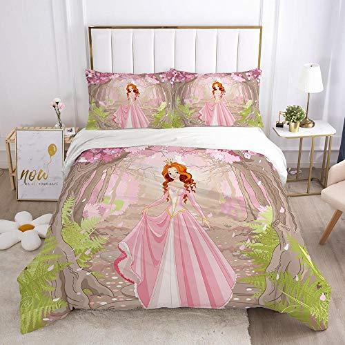 QDoodePoyer Bettwäsche-Set 260x220cm 80x80cm Pink Fantasie Anime MädchenBettwäsche für Teenager & Jugend · 2 teilig · Wendemotiv · 2 Kissenbezug 80x80 + 1 Bettbezug 260x220cm