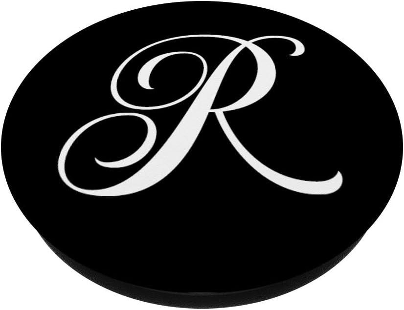 Monograma Rosado PopSockets Agarre y Soporte para Tel/éfonos y Tabletas Acuarela Hojas Lim/ón Letra A Ramas
