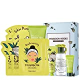 TONYMOLY Hydration Heros Green Tea, Skincare Set