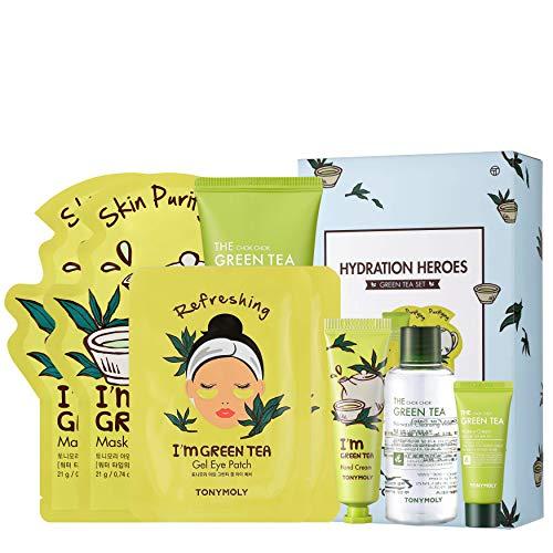 TONYMOLY Hydration Heros Green Tea, Skincare Set