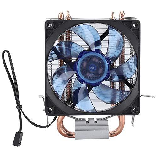 Ventilador de refrigeración de CPU LED Cold Storm CT-2U, enfriador de CPU con luz azul, potente y silencioso de 2100 RPM, 2 heatpipes de cobre de contacto directo continuo(estándar)